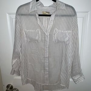 Elizabeth and James Striped Button Down Shirt